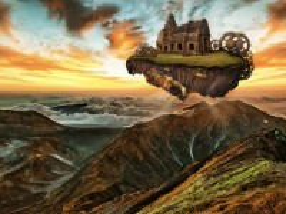 Собирать пазл Flying island онлайн