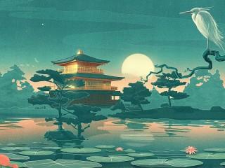 Собирать пазл Moon Heron онлайн