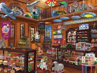 Собирать пазл Toy store онлайн