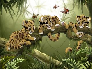 Собирать пазл Malenkie leopardi онлайн
