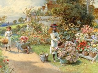 Собирать пазл The little gardener онлайн
