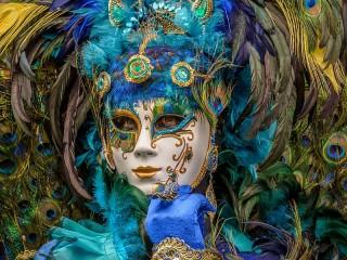Собирать пазл Peacock mask онлайн
