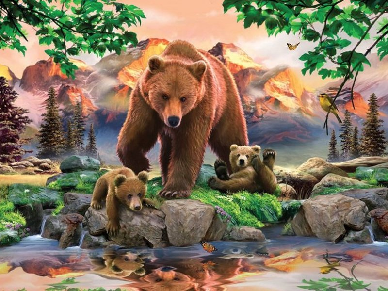 Jigsaw Puzzle Solve jigsaw puzzles online - Bears 1