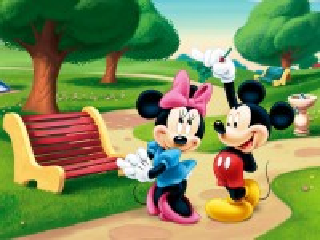 Собирать пазл Mickey and Minnie онлайн