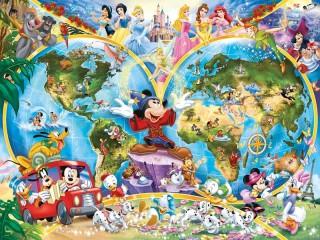 Собирать пазл Disney world онлайн