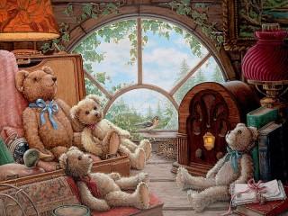 Собирать пазл Teddy bears онлайн