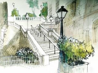Собирать пазл Montmartre онлайн