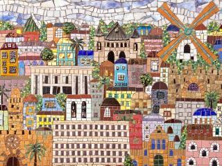 Собирать пазл Mosaic the city онлайн