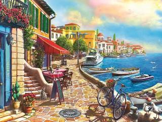 Собирать пазл Promenade онлайн