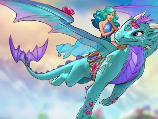 Собирать пазл Naida on the dragon онлайн