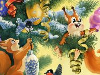 Собирать пазл Decorating the fir-tree онлайн