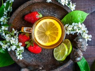 Собирать пазл Still life with tea онлайн