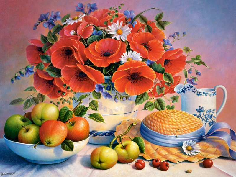 Jigsaw Puzzle Solve jigsaw puzzles online - Still Life with poppies