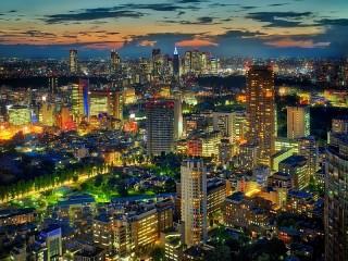 Собирать пазл Night in Tokyo онлайн