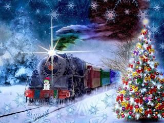 Собирать пазл Christmas Express онлайн