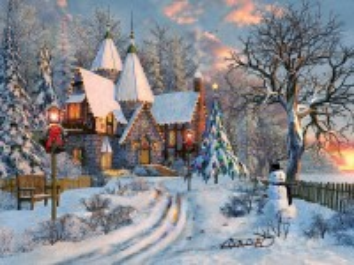 Собирать пазл Christmas cottage онлайн