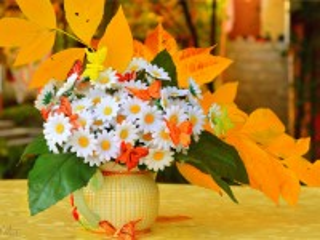Собирать пазл Autumn daisies онлайн