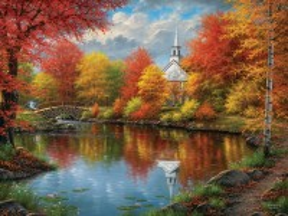 Собирать пазл Autumn landscape онлайн