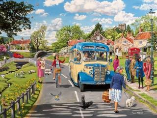 Собирать пазл Bus stop онлайн