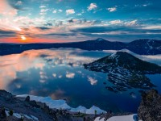 Собирать пазл The island and lake онлайн