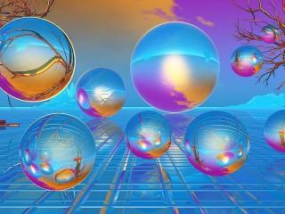 Собирать пазл Polished balls онлайн