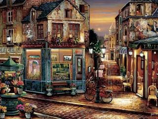Собирать пазл Alley in Montmartre онлайн