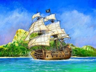 Собирать пазл Pirate sailing ship онлайн
