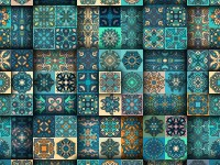 Собирать пазл Tile pattern онлайн