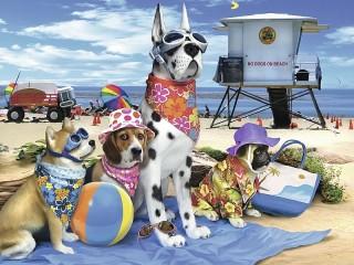Собирать пазл Beach season онлайн