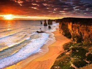 Собирать пазл Australia coast онлайн