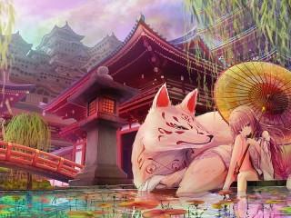 Собирать пазл Under the pagoda онлайн