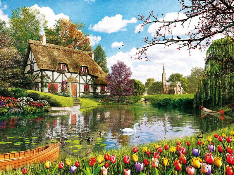 Jigsaw Puzzle Solve jigsaw puzzles online - Tulips season