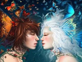 Собирать пазл Butterfly kiss онлайн