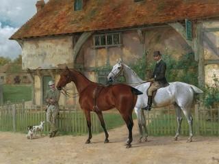Собирать пазл Horseback riding онлайн