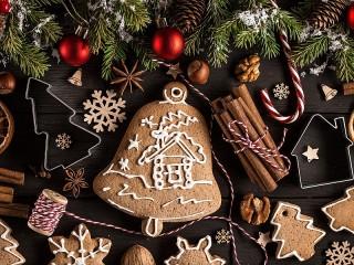 Собирать пазл Christmas Gingerbread онлайн