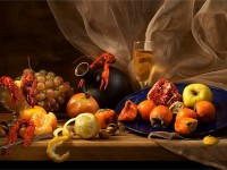 Собирать пазл Crayfish and fruits онлайн