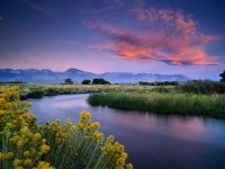 Собирать пазл Sunrise above the river онлайн