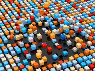 Собирать пазл Colorful cubes онлайн