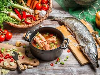Собирать пазл Fish soup онлайн
