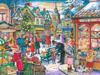 Собирать пазл Christmas market онлайн