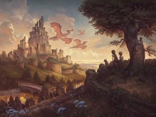 Собирать пазл Ruins and dragons онлайн
