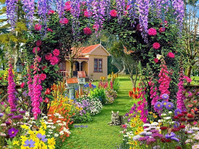 Jigsaw Puzzle Solve jigsaw puzzles online - Garden flowers