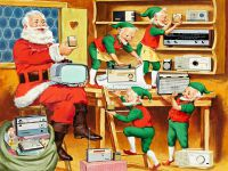 Собирать пазл Santa - Klaus i gnom онлайн