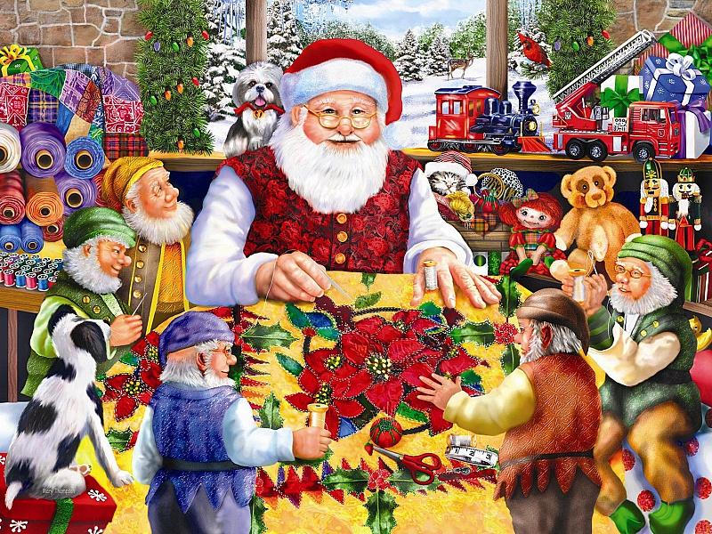 Jigsaw Puzzle Solve jigsaw puzzles online - Santa shet