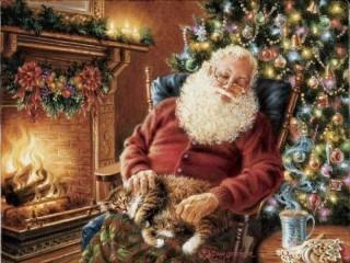 Собирать пазл Santa ustal онлайн