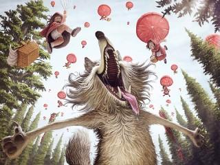 Собирать пазл Grey Wolf Happiness  онлайн