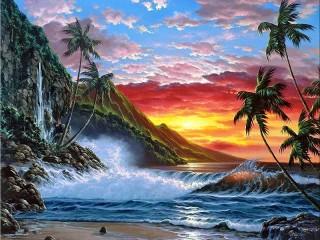 Собирать пазл Sunset simphony онлайн