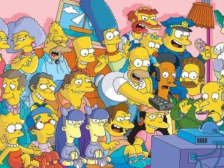 Собирать пазл Simpsoni онлайн