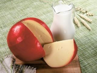 Собирать пазл Cheese and milk онлайн