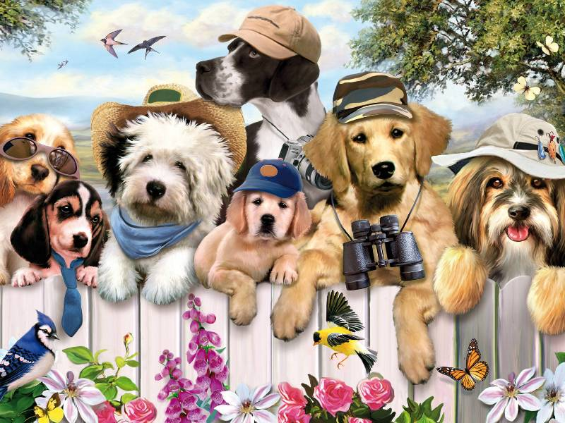 Jigsaw Puzzle Solve jigsaw puzzles online - Dogs 1